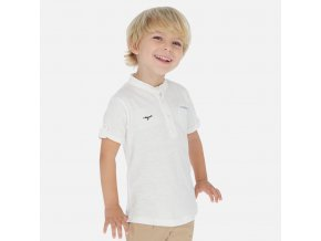 Tričko s krátkým rukávem a stojáčkem bílé MINI Mayoral