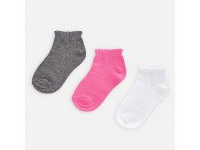 3 pack nízkých ponožek neonově růžové MINI Mayoral