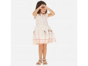 Šaty s krátkým rukávem baletky meruňkové MINI Mayoral