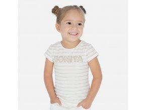 Tričko s krátkým rukávem BONITA béžové MINI Mayoral