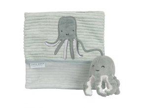Plyšová knížka velká chobotnice Ocean Mint Little Dutch