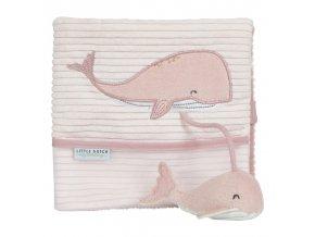 little dutch plysova knizka velka velryba ocean pink ld4848 1