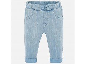 Kalhoty natahovací elastické světle modré NEWBORN Mayoral