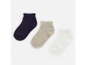 3 pack nízkých ponožek modro-zlaté MINI Mayoral