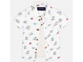 Košile krátký rukáv+aplikace trika safari BABY Mayoral