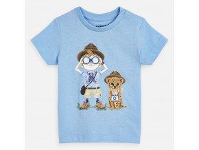 Tričko s krátkým rukávem průzkumníci světle modré BABY Mayoral