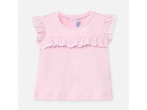 Tričko s krátkým rukávem madeira světle růžové BABY Mayoral