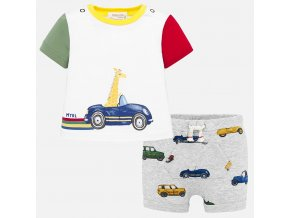 Set tričko a kraťásky žirafa  NEWBORN Mayoral