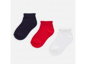 3 pack nízkých ponožek červeno-modré MINI Mayoral