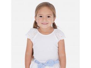 Tričko s krátkým rukávem madeira bílé MINI Mayoral