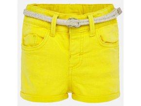 Kraťasy riflové s páskem žluté BABY Mayoral