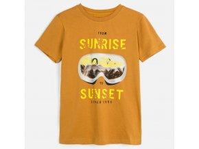Tričko s krátkým rukávem SUNSET karamelové JUNIOR Mayoral