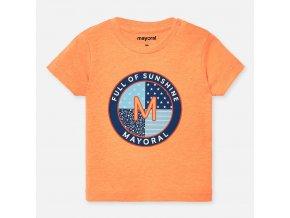 Tričko s krátkým rukávem oranžové BABY Mayoral