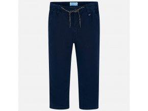 Kalhoty lněné tmavě modré MINI Mayoral