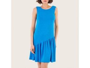 Šaty dámské bavlněné s volánem modré Extreme Intimo