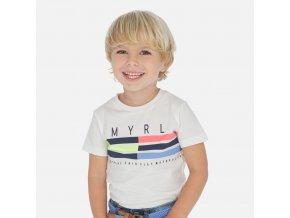 Tričko s krátkým rukávem MYRL pruhy neon MINI Mayoral