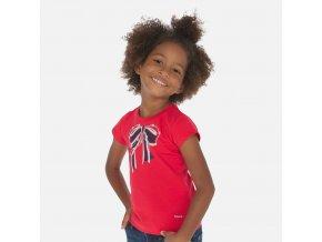 Tričko s krátkým rukávem mašlička červené MINI Mayoral