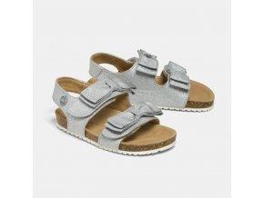 Sandálky s mašličkami stříbrné BABY Mayoral