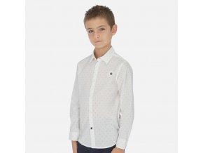 Košile s dlouhým rukávem vzor bílá JUNIOR Mayoral