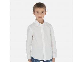 Košile s dlouhým rukávem basic bílá JUNIOR Mayoral