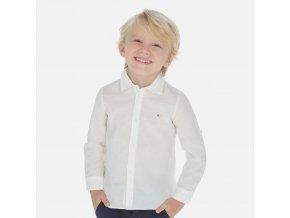 Košile s dlouhým rukávem lněná vzorek MINI Mayoral
