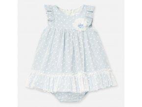 Šaty tylové s s květinou světle modré BABY Mayoral