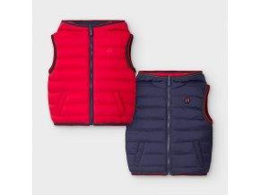 Vesta oboustranná s kapucí červeno-modrá BABY Mayoral