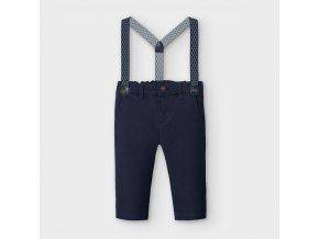 Kalhoty zateplené s kšandami tmavě modré BABY Mayoral