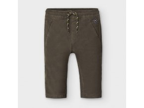 Kalhoty manžestrové zateplené zelené BABY Mayoral