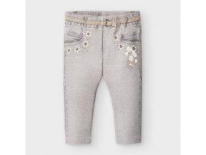 Legíny s tiskem džínů světle šedé BABY Mayoral