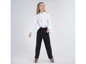 Kalhoty volnějšího střihu s páskem černé JUNIOR Mayoral