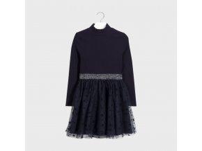 Šaty s dlouhým rukávem hvězdy tmavě modré JUNIOR Mayoral