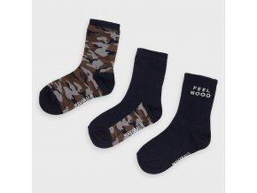 3 pack ponožek Army modré MINI Mayoral