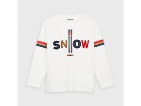 Triko s dlouhým rukávem SNOW smetanové MINI Mayoral