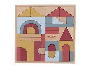 Dřevěné stavebnicové kostky Little Dutch