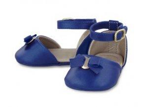 Sandálky s mašličkou královsky modré NEWBORN Mayoral