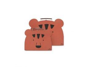 Kufříky 2 ks Jollein Animal club rust