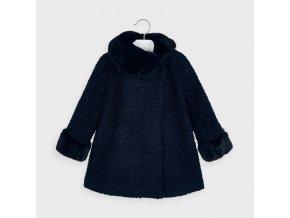 Kabát s kožešinkou tmavě modrý MINI Mayoral