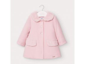 Kabátek s límečkem světle růžový BABY Mayoral
