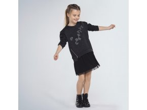 Tunika s plisovanou sukní BE CREATIVE černá JUNIOR Mayoral