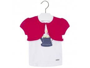 Set bolerko + tričko s konvičkou bílá BABY Mayoral