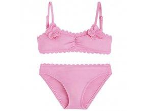 Plavky dvojdílné jednobarevné růžové MINI Mayoral
