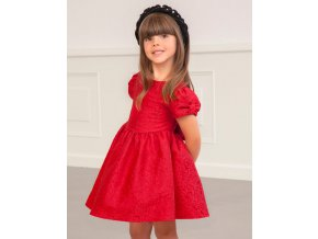 Šaty s vytlačovanými květinami červené Abel & Lula