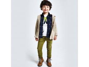 Kalhoty Slim fit zelené MINI Mayoral