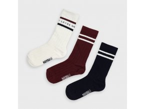 3 pack ponožek LEVEL UP vínové MINI Mayoral