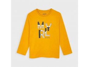 Triko s dlouhým rukávem basic MYRL žluté MINI Mayoral