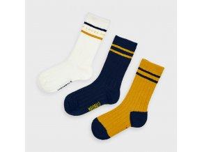 3 pack ponožek LEVEL UP žluté MINI Mayoral