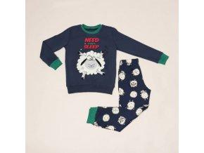 Pyžamo vánoční ovečka modro-zelené Extreme Intimo
