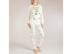 Pyžamo dámské vánoční ovečky smetanové Extreme Intimo