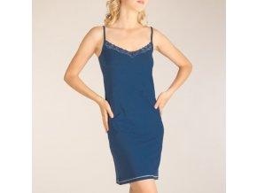 Noční košile dámská s krajkou tmavě modrá Extreme Intimo